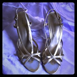 Size 10 Gold Strappy Heels by Fiona